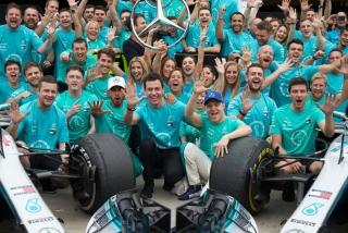 Fotos celebración Mercedes Mundial F1 2018 - Foto 6