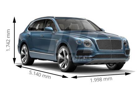 Medidas de coches Bentley