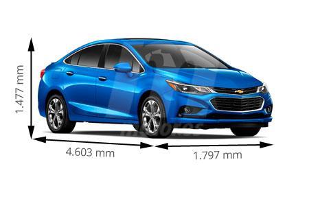 Medidas Chevrolet Cruze Longitud Anchura Altura Y Maletero