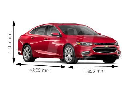 Medidas Chevrolet Malibu Longitud Anchura Altura Y Maletero