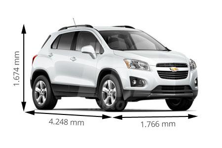 Chevrolet Trax 2017 >> Medidas Chevrolet Trax: longitud, anchura, altura y maletero