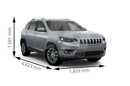 Medidas de coches Jeep