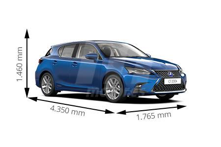 Medidas de coches Lexus