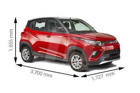 Medidas de coches Mahindra
