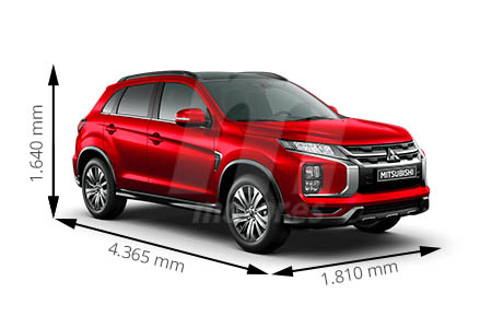 Medidas de coches Mitsubishi