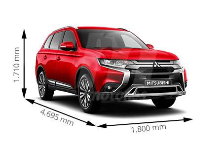 Medidas Mitsubishi Outlander Longitud Anchura Altura Y