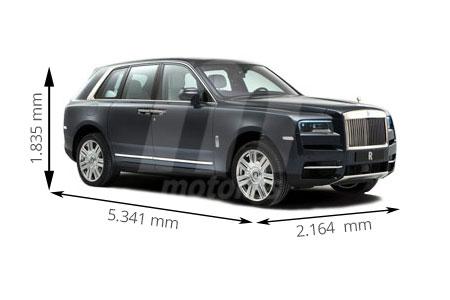 Medidas de coches Rolls-Royce