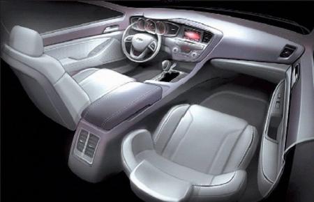 Se conoce el interior del nuevo Kia Magentis.