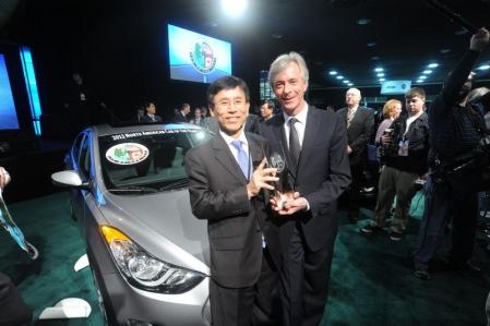El Hyundai Elantra fue elegido el Coche del Año Norteamericano 2012