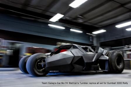 El Tumbler de Batman participará en la Gumball 2013