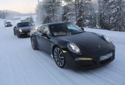 Porsche 911 Turbo 2015, imágenes en grupo