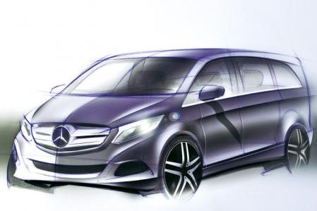 Mercedes presenta el primer boceto del Clase V