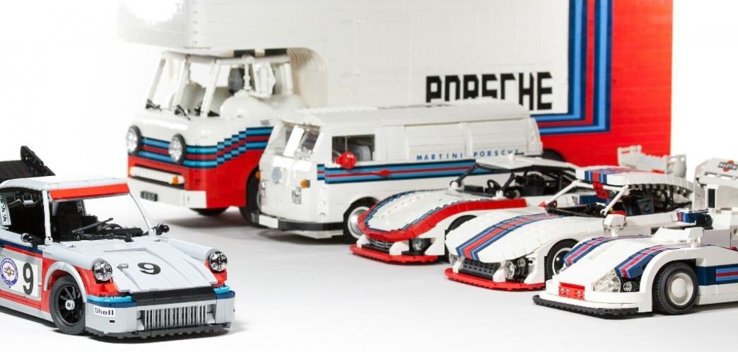 Cómo crear clásicos Porsche Martini Racing a base de LEGO