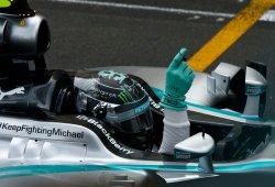 Rosberg se pasea por su casa