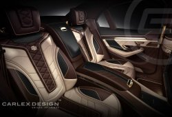 Oro de 24 quilates para el Mercedes-Benz Clase S de Carlex Design