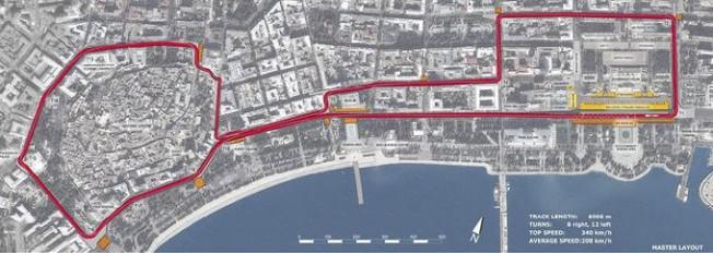Circuito Urbano La Bañeza 2018 : Así es el circuito urbano de bakú en azerbaiyán motor