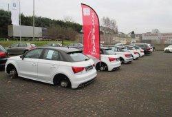 Entran en un concesionario de Audi-Volkswagen y roban todas las llantas