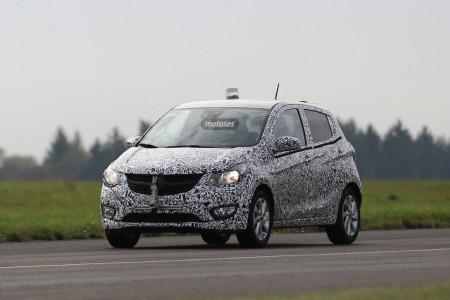 Opel Karl, fotos espía con poco camuflaje