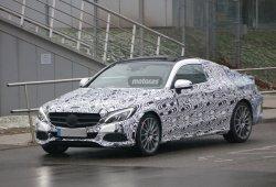Mercedes Clase C Coupe descubierto en fase de pruebas