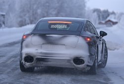 Porsche Panamera 2016 pruebas invernales