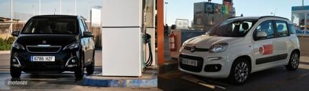 Fiat Panda 1.2 GLP contra Peugeot 108 1.2 VTi: consumo y economía (II)