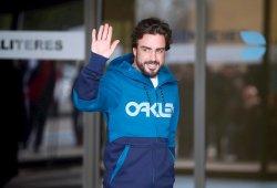 Fernando Alonso abandona el hospital y se pierde los últimos test de F1 2015