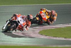 Marc Márquez saldrá tercero en el GP de Qatar tras la pole de Dovizioso