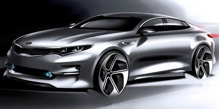 El Kia Optima 2016 adelanta su diseño en forma de bocetos