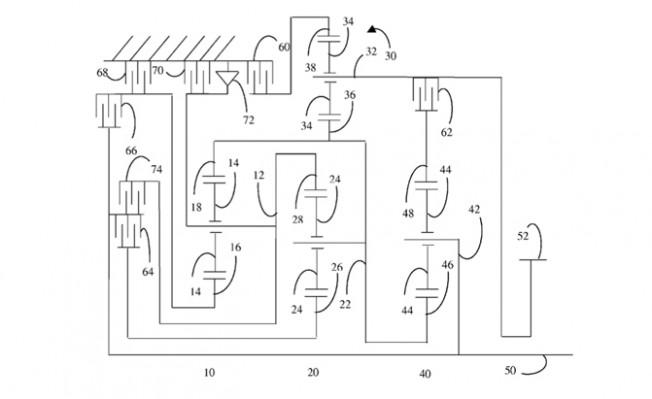 ford patenta una caja de cambios de 11 velocidades