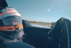 Martin Brundle prueba el Force India en Silverstone...¡y lo estrella!