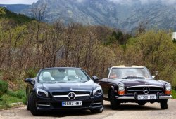 Mercedes Pagoda vs SL 500: 50 años de evolución