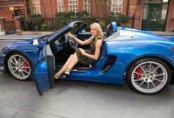 Maria Sharapova prueba el Porsche Boxster Spyder