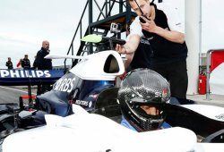 Mikko Hirvonen prueba el Williams FW29 de 2007