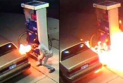 Quema una gasolinera para matar una araña