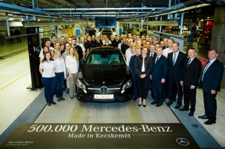 500.000 Mercedes fabricados en Hungría en cuatro años