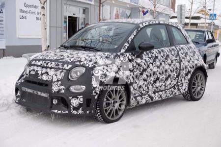 Fotos espía del lavado de cara del Fiat 500 Abarth