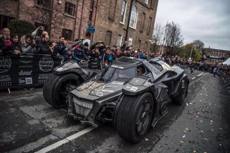 Este es el Batmovil de Galag Team que corre en la Gumball 3.000 2016