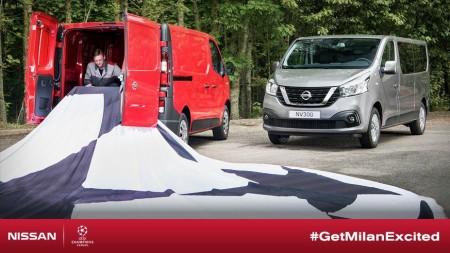 La primera imagen de la Nissan NV300 se muestra con motivo de la Champions League