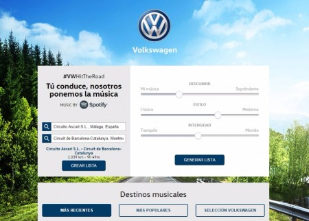 #VWHitTheRoad, la aplicación para crear tu playlist para conducir