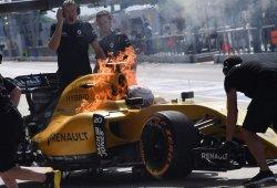 Renault cree saber la causa del incendio de Magnussen