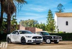 Prueba Ford Mustang Ecoboost vs Mustang V8 1966: el peso de la herencia
