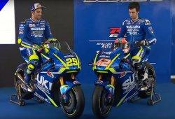 Alex Rins y Andrea Iannone presentan la nueva Suzuki