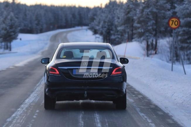 Mercedes Clase C 2018 - foto espía posterior