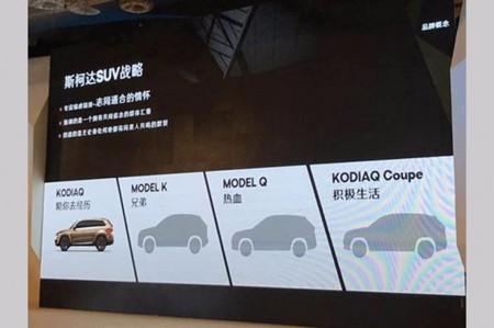 El Skoda Kodiaq Coupé es uno de los cuatro SUV que la marca checa lanzará en China