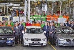 Skoda Superb: producida la unidad un millón de la popular berlina