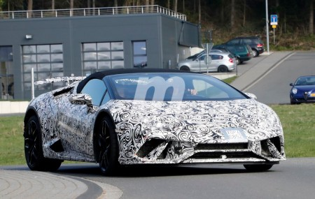 Lamborghini Huracan Spyder Performante: las primeras imágenes de la versión abierta