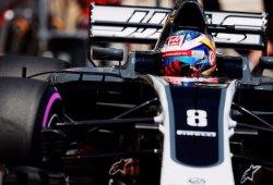 Haas rinde pese al balance cambiante de Grosjean