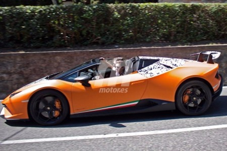 Lamborghini Huracán Performante Spyder al descubierto en Italia