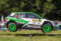 Skoda sigue su racha de éxitos en el Barum Rally Zlín
