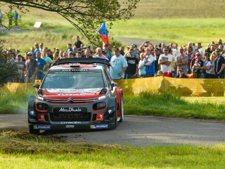 Mikkelsen da aire a Citroën, KO de Sordo en Alemania